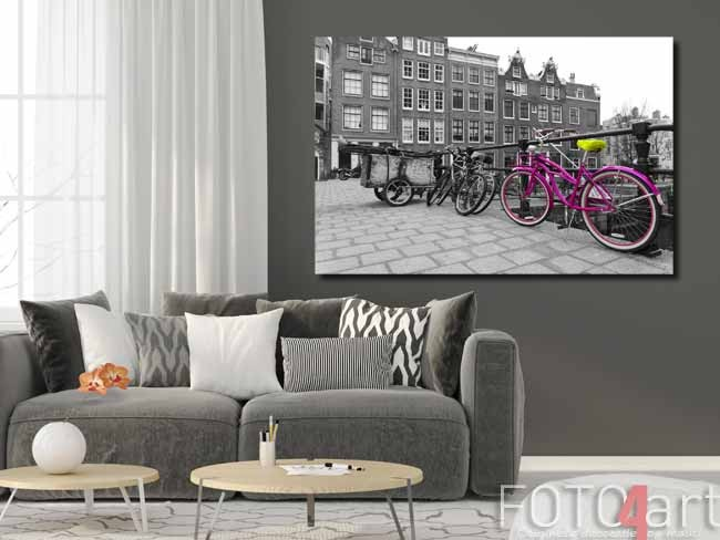 Foto op plexiglas fiets in Amsterdam